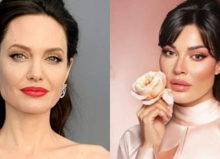 نادين نسيب نجيم أجمل وجه عربي وتنافس أنجلينا جولي-بالصورة