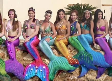 حوريات بحر يدخلن موسوعة غينيس لأكبر عرض مائي-بالفيديو