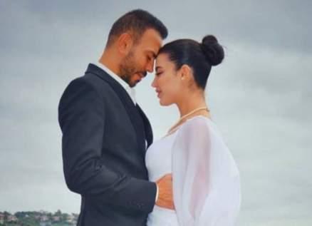 غدي يعلن حمل زوجته ملاك الاختيار بطفلهما الأول -بالصورة
