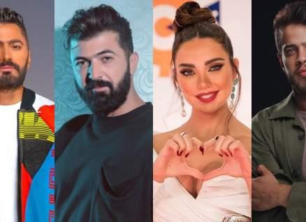 بالفيديو- تامر حسني يسابق سيف نبيل وأدهم نابلسي وداليدا خليل