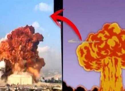 """ما حقيقة تنبؤ مسلسل """"سيمبسون"""" بإنفجار مرفأ بيروت.. بالفيديو"""
