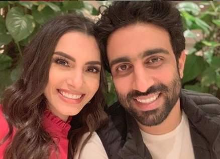كارمن سليمان وزوجها مصطفى جاد يحضران مفاجأة
