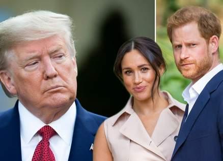 دونالد ترامب يهاجم الأمير هاري وميغان ماركل بعد تجاهلهما له.. بالفيديو