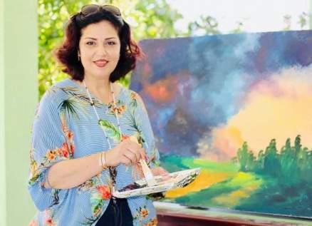 لوحات الفنانة التشكيلية عصمت حريري في معرض إلكتروني-بالصور