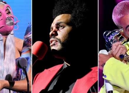 ليدي غاغا وذا ويكند وفرقة BTS ومالوما أبرز الرابحين في حفل VMAS 2020