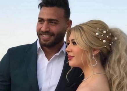 ملكة جمال العرب سمارة يحيى تخطف الأنظار بعد زواجها من حارس الزمالك