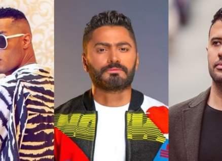 تامر حسني ومحمد رمضان في المرتبة نفسها .. وحمزة نمرة يتصدر
