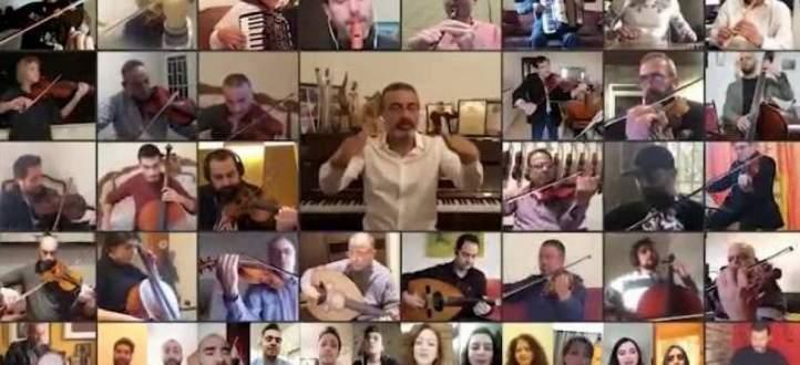 """بالفيديو- الأوركسترا الوطنية اللبنانية للموسيقى الشرق-عربية تدعم حملة """"خليك بالبيت"""""""