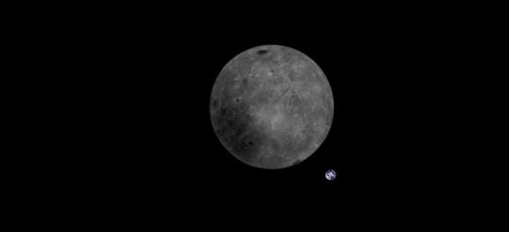 شاهدوا الأرض من خلف القمر! بالفيديو