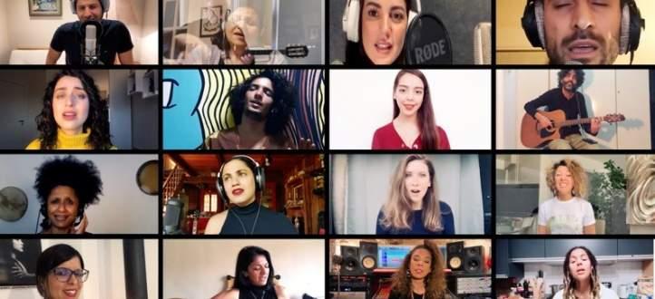 """آمال مثلوثي تصدر نسخة جديدة من """"كلمتي حرة"""" بصوت جاهدة وهبي وظافر العابدين وفايا يونان ونجوم عالميين- بالفيديو"""