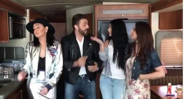 """غادة عبد الرازق وأبطال """"أرض جو"""" يحتفلون بإنتهاء التصوير.. بالفيديو"""