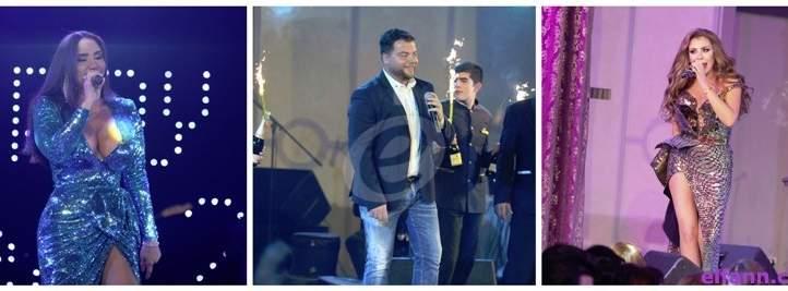 خاص بالفيديو- عامر زيان وميليسا في حفل ضخم ليلة رأس سنة وعودة لفيفيان عازار بعد غياب 6 أعوام