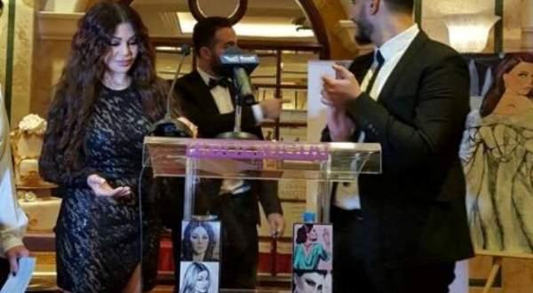 هيفا وهبي في افتتاح معرض رسوماتها ..بالفيديو