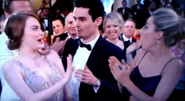 إيما ستون تتعرض لموقف محرج في Golden Globes 2017.. بالفيديو
