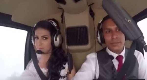 عروس برازيلية تلقى حتفها بتحطم مروحية في طريقها إلى زفافها ..بالفيديو