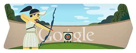 غوغل يحتفل بإنطلاق العاب الرماية في اولمبياد لندن 2012