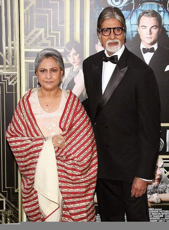 أميتاب باتشان وزوجته في العرض الخاص لـ The Great Gatsby