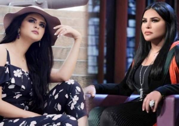 أحلام تدافع عن سلمى رشيد بعد ما اصابها خلال غنائها النشيد الوطني المغربي