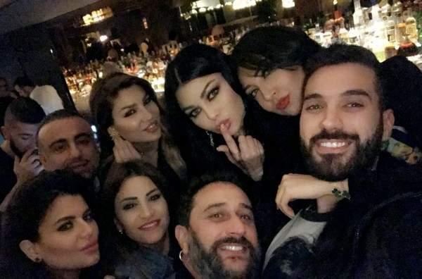 هيفا وهبي تفاجئ عماد قانصو وتحتفل بعيد ميلاده مع ناصيف زيتون والأصدقاء