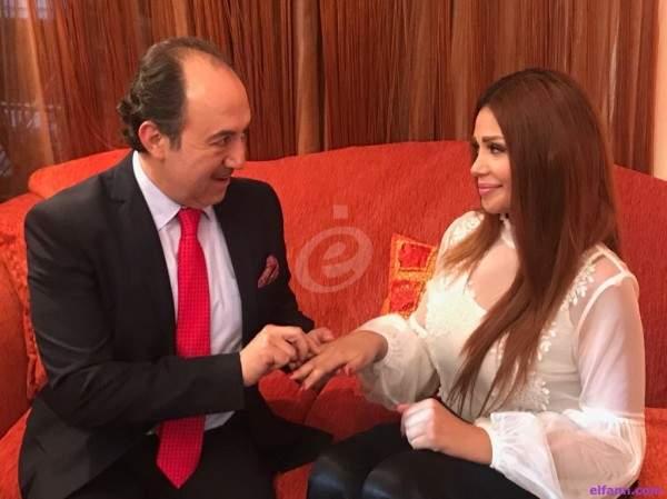 خاص بالصور: خطوبة محمد خير الجراح وريهام عزيز