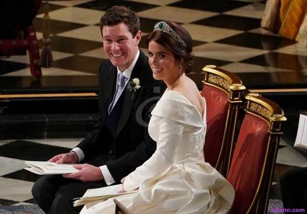 هكذا أطلت الأميرة أوجيني في زفافها