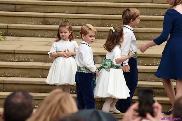 الأمير جورج والأميرة شارلوت مبهران في زفاف الأميرة أوجيني
