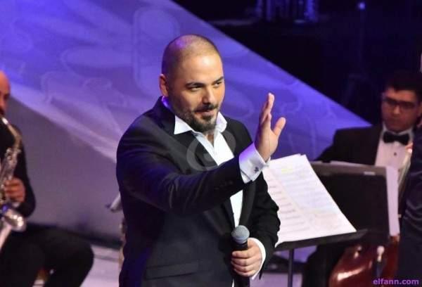 خاص بالصور- رامي عياش يشعل حفله بمهرجان الموسيقى العربية بدار الأوبرا