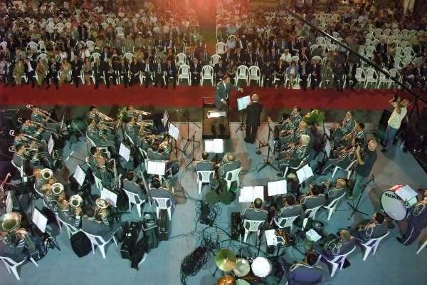 جمعية نسروتو وموسيقى قوى الامن في ريستال ميلادي