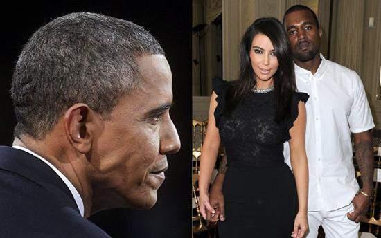 باراك أوباما ينتقد كيم كارداشيان وكانيي ويست بشكل لاذع