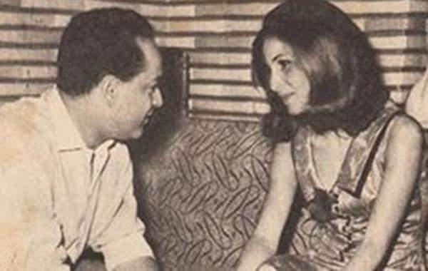 صورة نادرة لزيزي البدراوي مع زوجها السابق عادل صادق