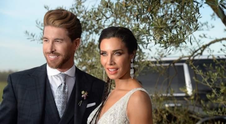 زوجة نجم كرة القدم سيرجيو راموس تختار فستان زفافهما بتوقيع زهير مراد- بالصور