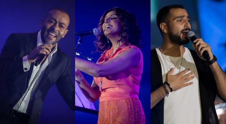 بالفيديو- أنغام تهدي الجمهور السعودي هذه الأغنية بحفلها.. وتدعم محمد الشرنوبي
