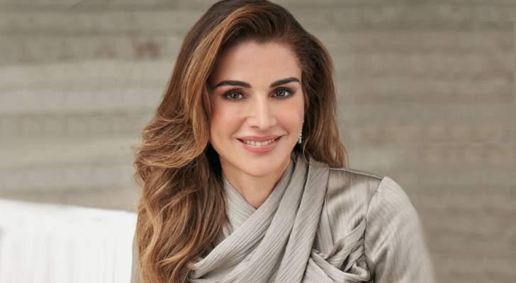 إطلالة الملكة رانيا في عيدها الـ50 بتوقيع مصممة لبنانية