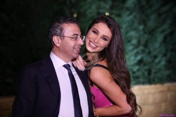 أنابيلا هلال تحتفل بتكريم زوجها نادر صعب في مصر