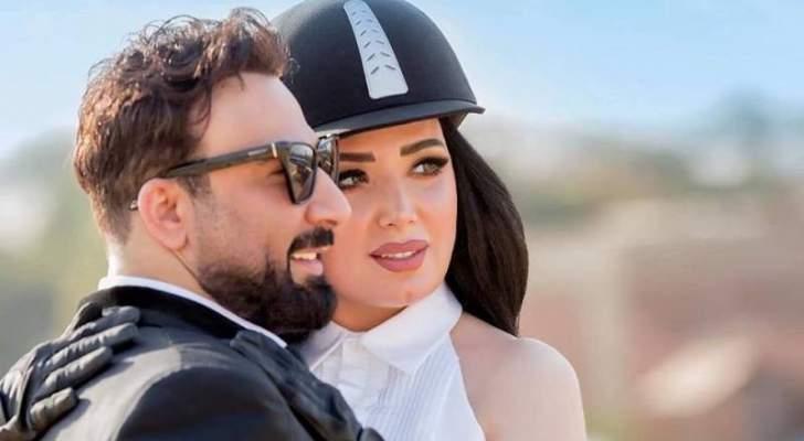 عبير صبري تحتفل بعيد ميلادها برقصة رومانسية مع زوجها- بالفيديو