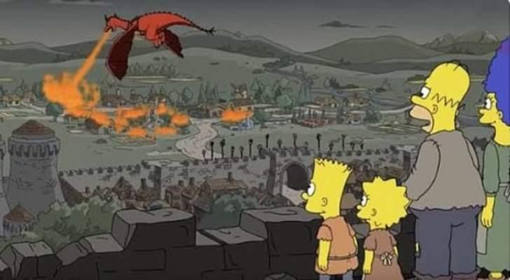 The simpsons يصدم المتابعين بتنبؤه بمشهد في Game of thrones- بالفيديو