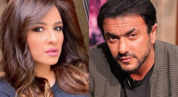 ياسمين عبد العزيز وأحمد العوضي يثيران الجدل على البحر-بالصور