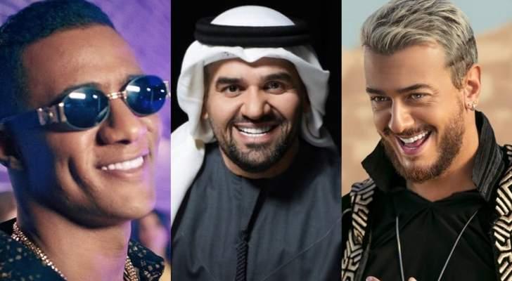 منافسة قوية بين سعد لمجرد وحسين الجسمي ومحمد رمضان.. من تفوّق؟