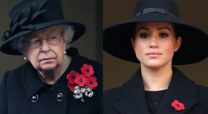 ميغان ماركل تواسي الملكة إليزابيث إثر وفاة الأمير فيليب