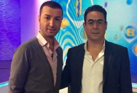 بلال العربي مع نقولا صحناوي بمناسبة عيد الإستقلال اللبناني