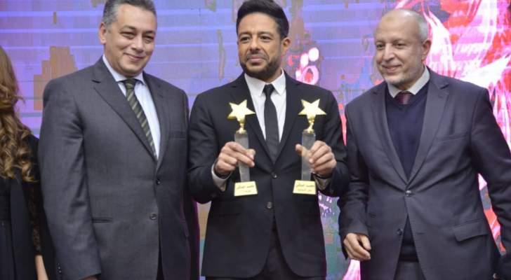 """بالصور- محمد حماقي وزينة وسلمى رشيد مكرمون في حفل """"كازا آرت"""" المغرب"""