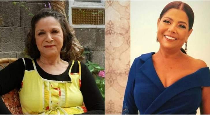 سامية الجزائري وشقيقتها صباح الجزائري تعايدان المتابعين بصورة عفوية مشتركة