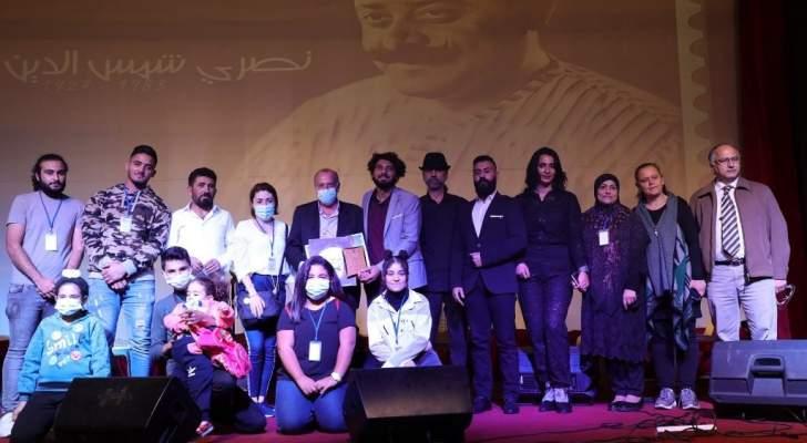 بالفيديو والصور- تكريم نصري شمس الدين في اختتام فعاليات مهرجان صور الموسيقي الدولي