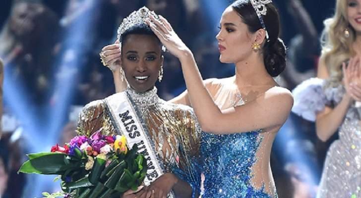 فوز ملكة جمال جنوب أفريقيا بلقب ملكة جمال الكون 2019