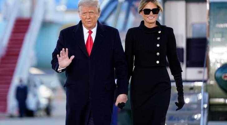 ميلانيا ترامب ودّعت البيت الأبيض بإطلالة بالأسود شديدة الأناقة