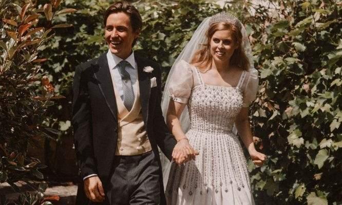 الأميرة بياتريس تزينت بتاج الملكة ماري وإستعارت فستان زفافها من الملكة إليزابيث..وما هي الأسباب والتفاصيل