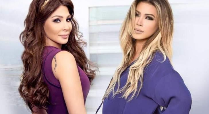 نوال الزغبي تتحدث عن خلافها مع إليسا وتقول : لا أعلق على هذه الامور التافهة