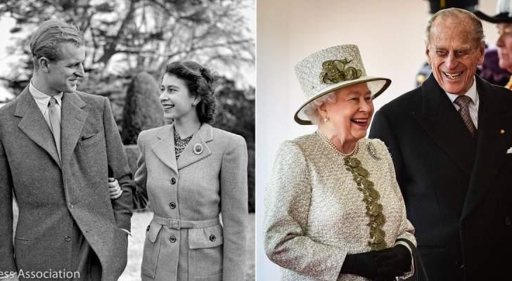 الملكة إليزابيث الثانية والأمير فيليب يحتفلان بعيد زواجهما الـ72