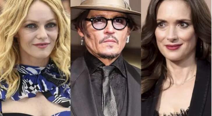 وينونا رايدر وفانيسا بارادي تدعمان عشيقهما السابق جوني ديب..فما القصة؟