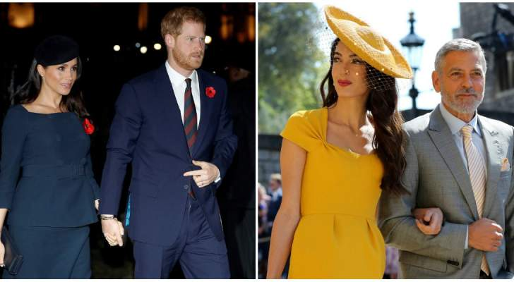 جورج كلوني يثير الجدل بما قاله عن علاقته وزوجته بـ الأمير هاري وميغان ماركل